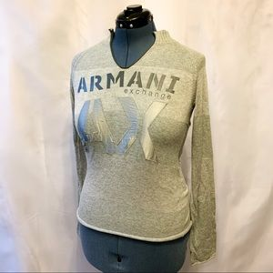 ✨3/$20✨Casual Grey Armani Exchange Long Sleeve Top